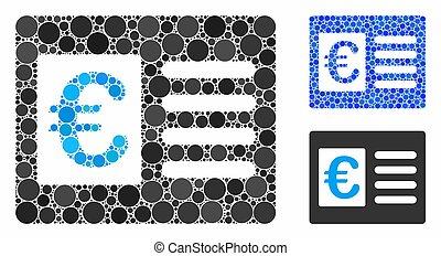 Euro bank account Mosaic Icon of Round Dots - Euro bank...