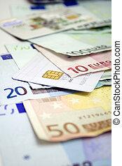 Euro bills & Credit Card 2Euro bills & Credit Card 2