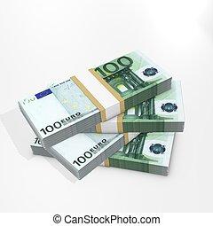 Euro bills stack
