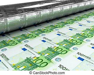 Euro bills stamp mashine