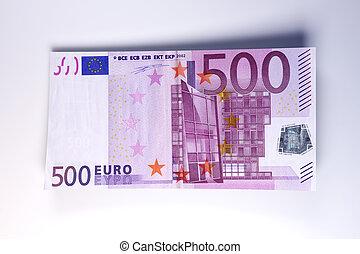Euro Bills - 3D rendered Illustration.