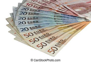 euro bills - different euro bills