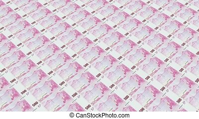 euro bills,Printing Money Animation