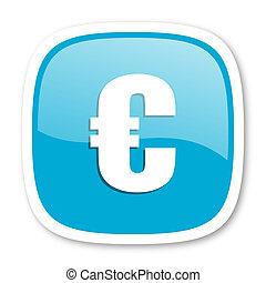 euro blue glossy web icon