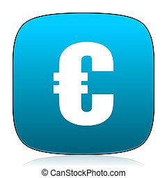 euro blue icon