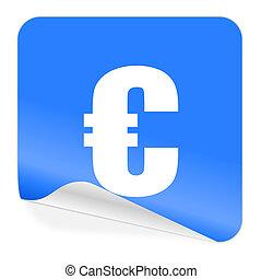 euro blue sticker icon