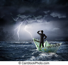 Euro boat in the crisis