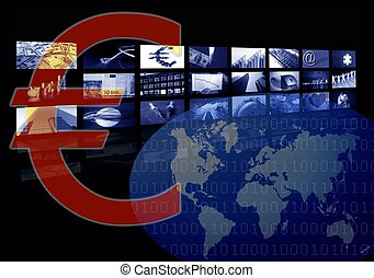 Euro Business corporate image, multiple screen