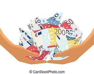 Euro Cash Haul on White (Vector)