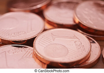 Euro cents - pile of euro cents