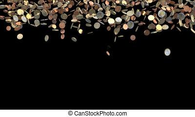 euro coin glass