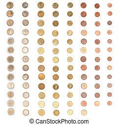 Euro coin money - Euro coins including both the ...