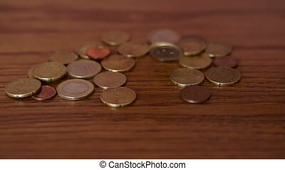 Euro Coin on Table