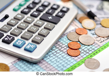 calculator on table