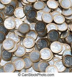 Euro Coins Background (Money Conceptual Picture)