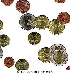 Euro coins collage