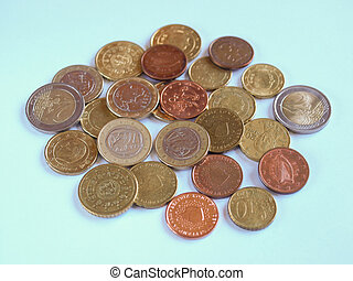 Euro coins - Euro currency (EUR) coins