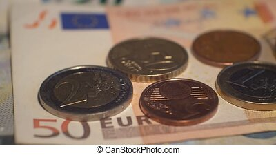 Euro coins money EUR , currency of European Union - Euro...