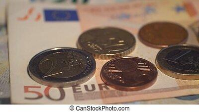 Euro coins money EUR , currency of European Union - Euro...