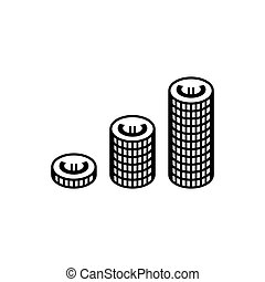 Euro coins simple icon