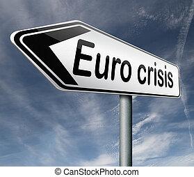 Euro crisis bank crash credit or housing bubble leading to...