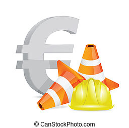 euro crisis concept illustration design