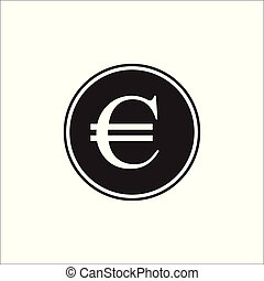 Euro curency, Euro Icon in trendy flat style isolated on grey background. Euro symbol for your web site design, logo, app, UI. Vector illustration, EPS10.