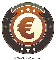Euro currency imperial button