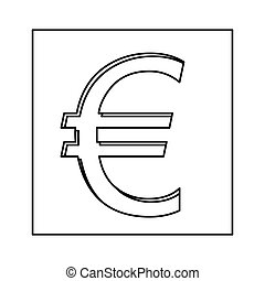 Euro currency symbol icon