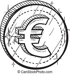 Euro currency symbol sketch
