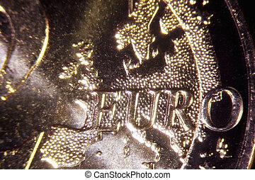 Detail of an euro coin