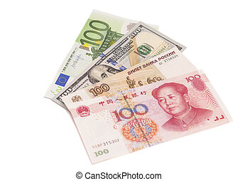 Euro, Dollars, Chinese yuan and the Russian rubles