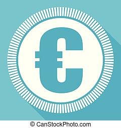 euro, editable, appartamento, vettore, icona, quadrato, web, bottone, blu, computer, e, smartphone, domanda, segno, in, eps, 10
