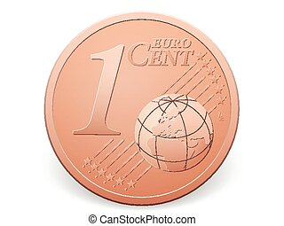 euro en, cent, mynt