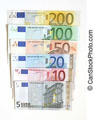 euro - Euro currency, 5, 10, 20, 50 100, 200 bills