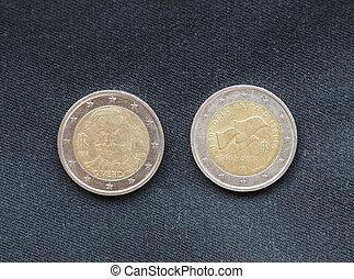 euro, europeo, coins, unión