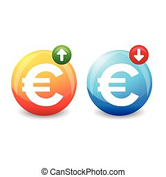 Euro exchange rate sign vector