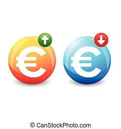 Euro exchange rate sign vector