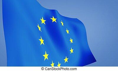 euro flag close up