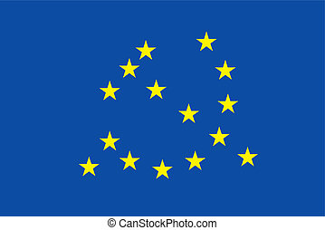euro flag with communism symbol, return of nazism in europe...