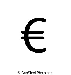 Euro flat icon. Vector illustration. symbol (sign)