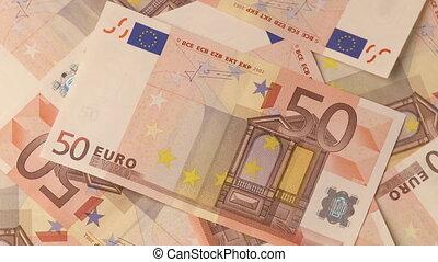 Euro   - Full frame video shot of European euro