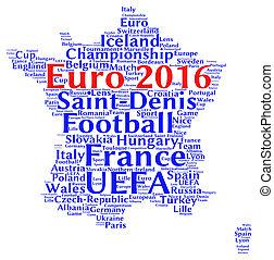 euro, football, 2016, dans, france