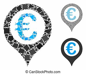 Euro geotargeting Composition Icon of Humpy Pieces - Euro ...