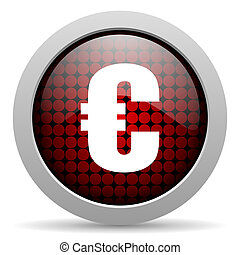 euro glossy icon