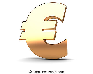 euro golden sign