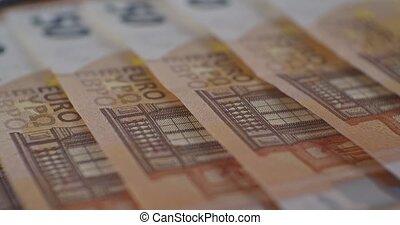 euro, gros plan, eur, billets banque, monnaie, 50