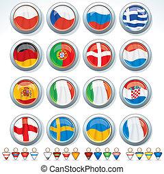euro, groupes, 2012