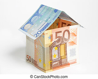 Euro house - A house made from euro bills
