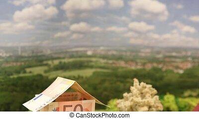 Euro house tilt down - tilt down on a euro house in a...